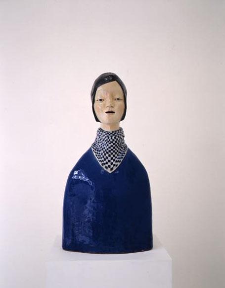青い服の女 2009 陶