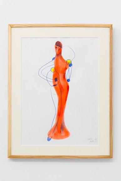 ドローイング 190122 水彩、色鉛筆、ケント紙  h43.5×w31 cm