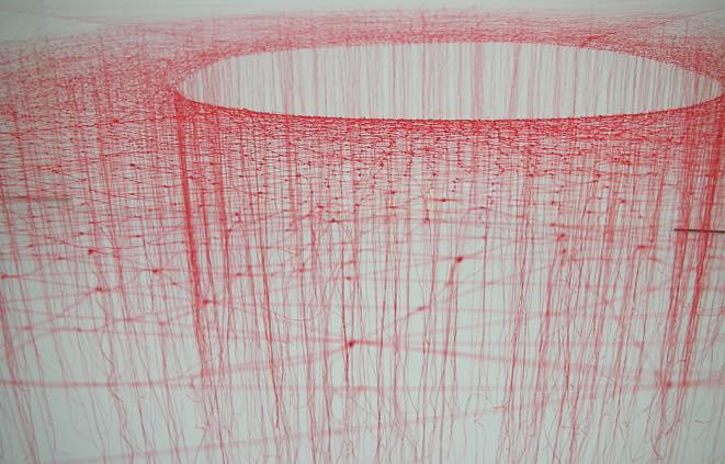 Kotted Thread -Red- h120cm 2009_silk thread