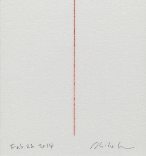 Kotted Thread -red-arch(部分) 2014 silk thread,paper 100×148mm