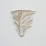 「水についての思索 10-01」2010 樟・アクリル絵具 h23×w21×d4.5cm