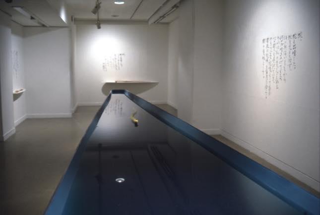 真空ー横切るもののへび 1997 シリコン、顔料、板、アクリル塗料 174×23cm