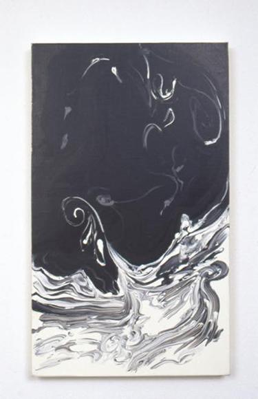 真空ー水流 1998 キャンバスに油性ウレタン塗料、水性ウレタン塗料 h45.5×w27.4cm