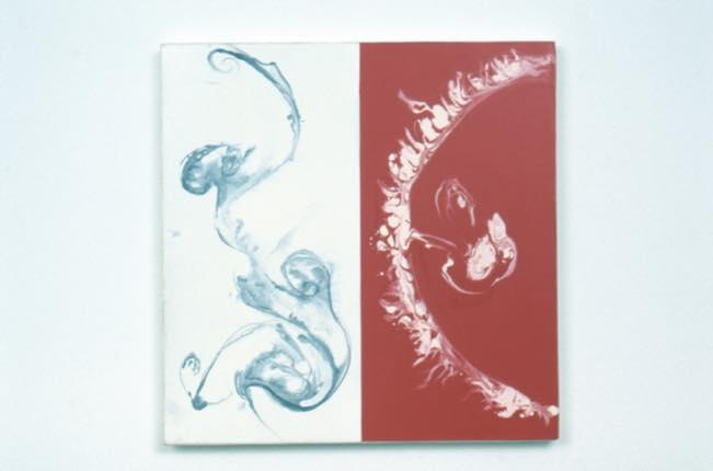 真空ー水流と胚 1998 キャンバスに油性ウレタン塗料、水性ウレタン塗料 h45.5×w45.5cm