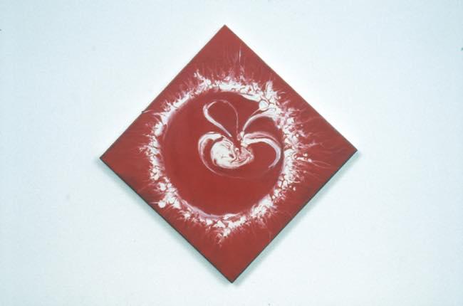 真空ー胚 1998 キャンバスに油性ウレタン塗料、水性ウレタン塗料 h47.2×w47.2cm