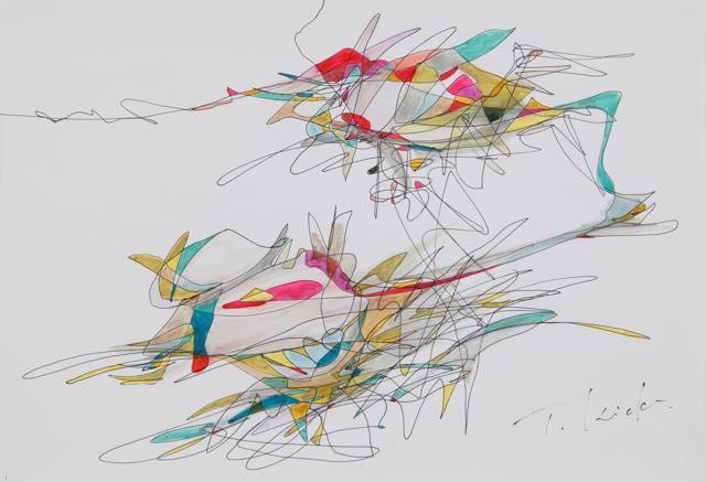 無題 2009 ドローイング アクリル絵具、水性マーカー H410×w522mm