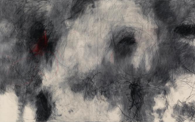 Untitled(2) 2012 綿布に木炭,パステル h2273×w3622mm