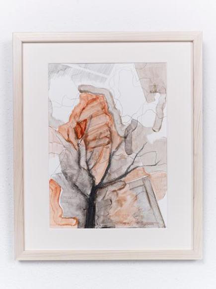 景色・木3 2017 紙、水彩、鉛筆 h32.5xw23cm