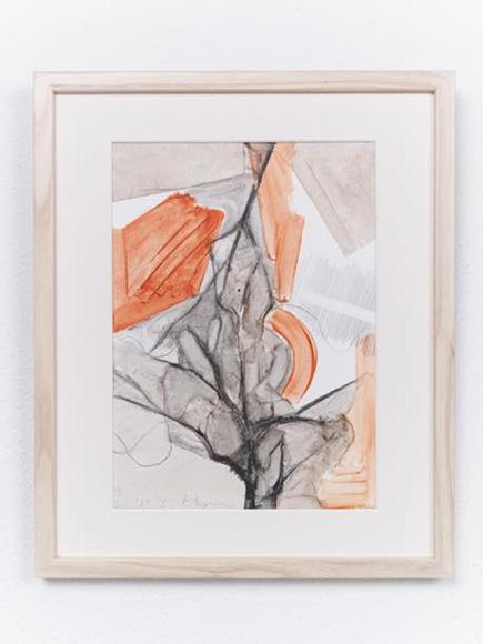 景色・木5 2017 紙、水彩、鉛筆 h32.5xw23cm