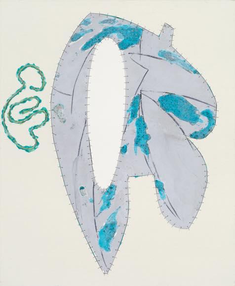 「エンプティーハート twist」2013 酸化皮膜したアルミニウム、アクリル、キャンバス 60.5×w50.5cm