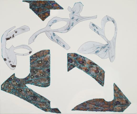 「空間の井戸」2016 酸化被膜したアルミニウム、アクリル、キャンバス_ h1620xw1940mm (F130)