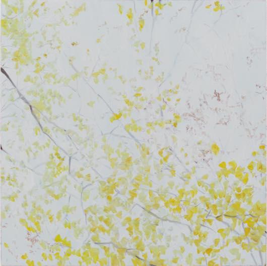 深韻 風の棲処(銀杏)十 2012 oil on canvas h80.3×w80.3cm