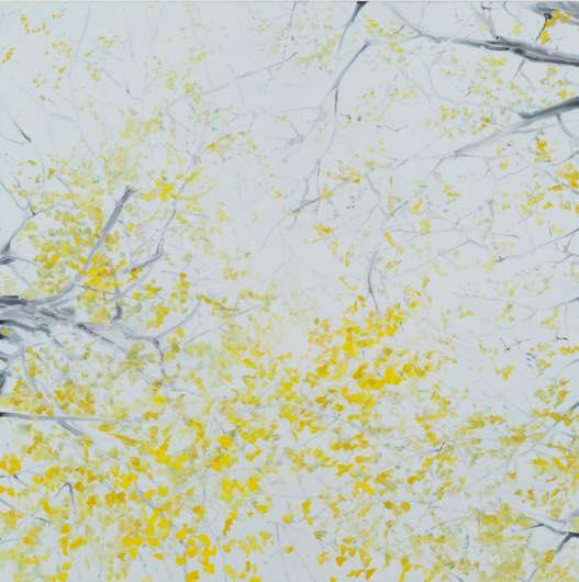 深韻ー風の棲処(銀杏)十五 2012 oil on canvas h145.5×w145.5cm