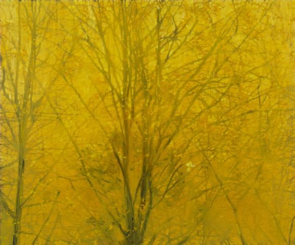 深韻ー風の棲処(銀杏)十四 2012 oil on canvas h162×w194cm