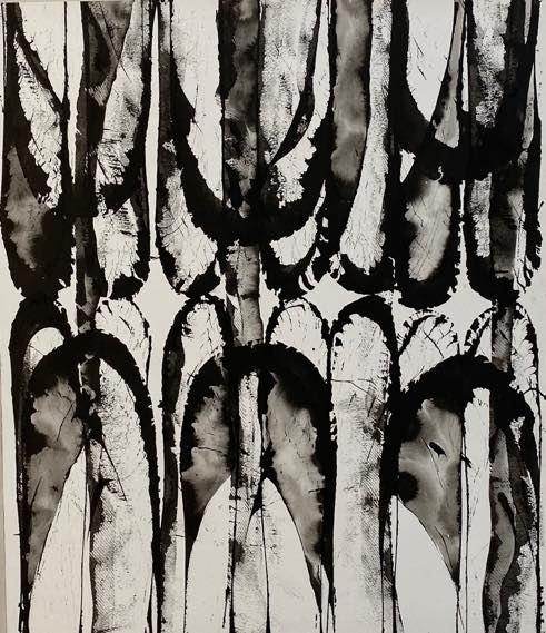 UNTITLED 18-D08 2018 India ink on paper 530×455mm