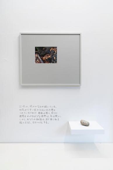 Picking Stones_2 2018 写真(額)、石、文字 サイズ可変