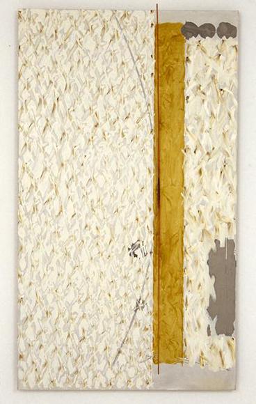 arc・green - O 1980 キャンバスに油彩、竹弓 194.0 x 112.5 cm