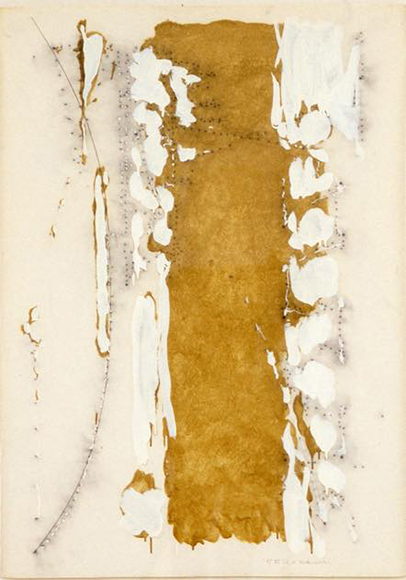 Untitled 1981 紙に油彩、木炭  oil, chacoal on paper 109.0 x 70.0cm