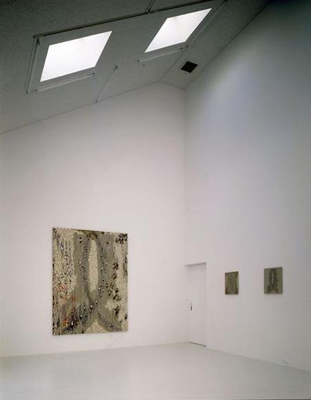 """「アーカイブ 作品""""ℓ字型ー左右の停止ーV""""1986による」(2009)展示風景"""