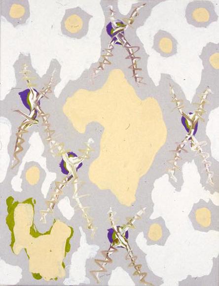 空間集束アラベスク 19 XII 2000 I 2000 キャンバスに油彩 41.0 x 32.0 cm