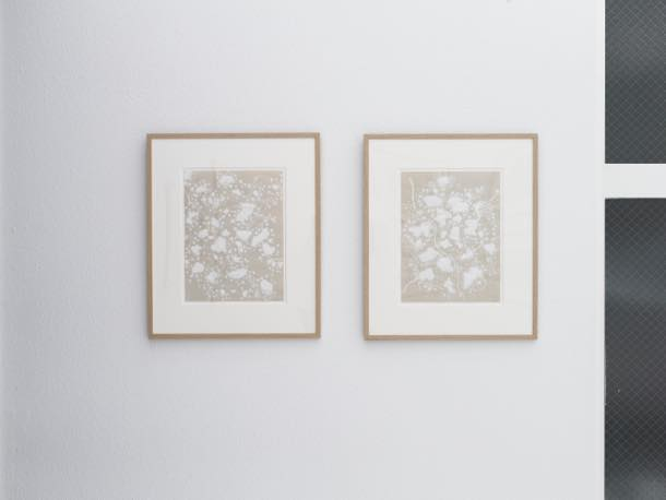 「works on paper」(2009)展示風景