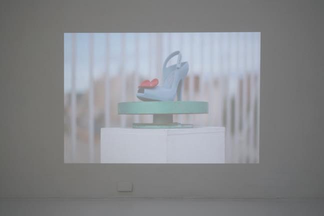 """片方の女性靴 2016 DVDビデオ 04' 36""""ループ"""