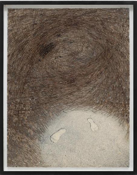 ベクトルNo.1 1990 写真に松葉のコラージュ h775×w595mm