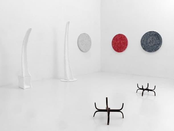 「Meteore-1 考える月」(2019)展示風景