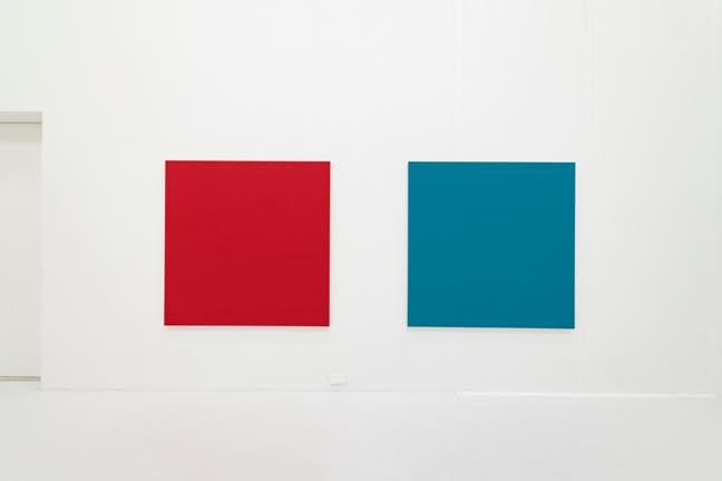 (左)Text No.1280(old Red) (右)Text No.1283(old Blue) 2021 1170x1164x30mm,each