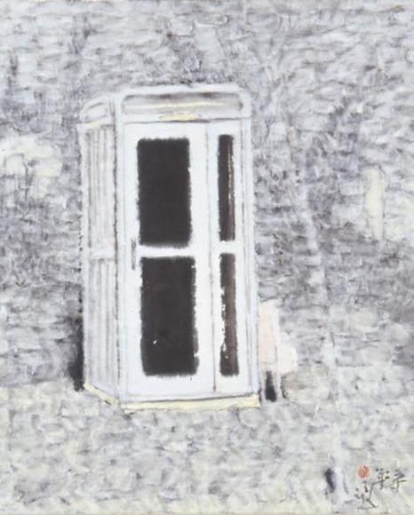 A SCENE 2005 韓紙、墨、粉粉 h63×w52cm