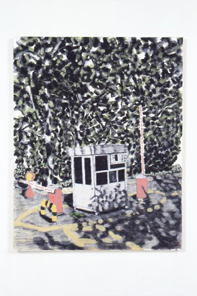 A Scene 2008 Black Ink White Powder and pastel on Korean Paper 81x65cm