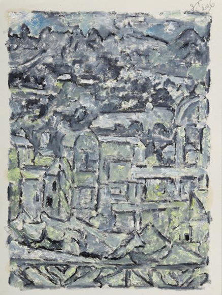 15 Window 2016 Oil coler on paper 31.8X23cm
